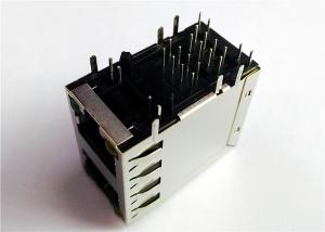 China 6368011-2 , 6368011-3 Dual Port 2X1 Stacked Rj45 Female Jack 8 POSITION on sale