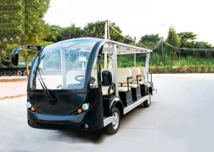 China Black 14 Person Electric Sightseeing Bus 7.5KM Motor 72V Electric Sightseeing Car on sale