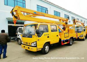 China ISUZU 4x2 14-16M Aerial Platform Truck LHD EURO5 , Vehicle Mounted Work Platforms on sale