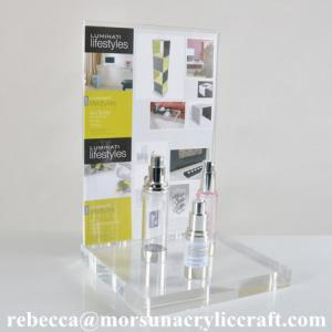 China Clear acrylic cosmetics display stand tabletop for cosmetic bottles on sale