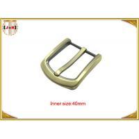 Gold Custom Zinc Alloy Metal Belt Buckle 40mm With CNC Engraved Logo