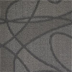 China Modular Peel And Stick Indoor Outdoor Carpet Tiles / Black Commercial Carpet Tiles on sale