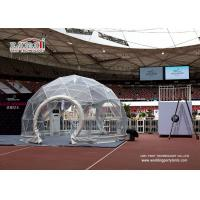Waterproof and flame retardant transparent cover Geodesic Dome Tents 5m Diameter