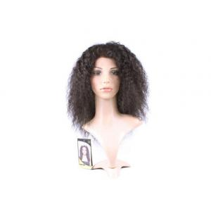 China Soft Deep wave Human Hair Lace Front Wigs , 100% Virgin Unprocessed Half Lace Wig on sale
