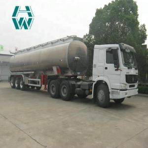 China 3 Axles Fuel Tank Semi Trailer Monoblock Cylinder Type With Goose Neck on sale