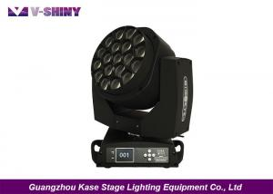 China 19X15W Moving Head Led Lights / Dmx Led Moving Head Spot Light For Stage Events on sale