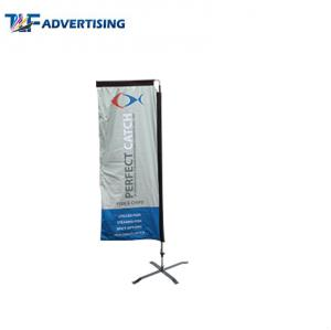 China Attractive Racing Custom Advertising Banners 7 Foot Wind Resistant Colorful Portable on sale