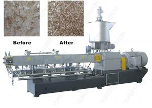 China Parallel Twin Screw PET Plastic Flakes / Scraps Granulator Machine With High Tool Steel Screw on sale