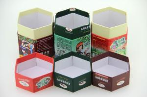 China Tea Paper Cans Packaging Hexagon Shape Paper Cans. on sale