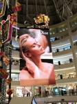 P10 outdoor full color HD advertising LED video curtain wall, fixed led video display
