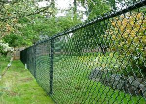 China Green Chain Link Mesh Fecing Size 100 ft Chain Link Fence For Construction on sale