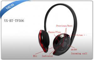 China 2GB Micro SD Card 3.5mm Stereo Earphone / Bluetooth Sport Headphones with FM Radio on sale