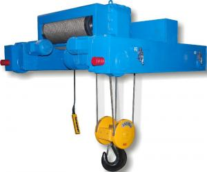 China Dual Rail Wire Rope Hoist Trolley For Double Girder Overhead Crane on sale