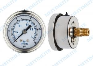 China 50mm Precision pressure gauge with 1/4 connector and stainless steel bayonet bezel on sale