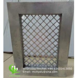 Aluminum mesh with frame for window decoration any size can be made