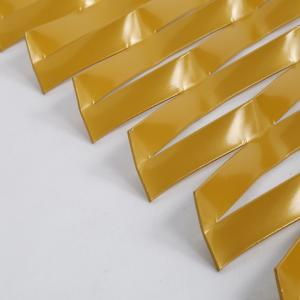 China golden anodized aluminum expanded metal sheet  /  decorative curtain wall expanded metal on sale