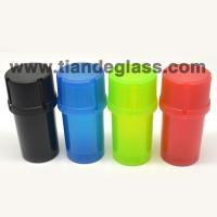 20pcs/lot Cheap Plastic Grinder Medical Grade Small Tobacco Herb Grinder Crusher Smoking Accessary Cut Tobacco 35 mm