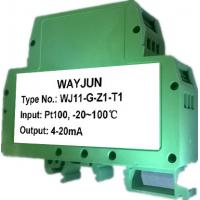 China WAYJUN 3000V isolation two wire 4-20mA loop powered RTD temperature signal transmitter DIN35 signal converter on sale