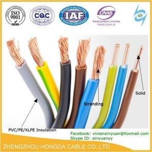 pvc insulated copper stranded vs solid wiring copper awg electric rh hongdacable sell everychina com electrical wire for sale near me electrical wire for sale