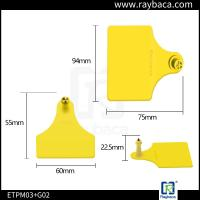 Livestock Farm Cattle Ear Tags Female And Male Two Pieces RBC-ETP23