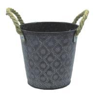 Antiqued Zinc Oval Buckets