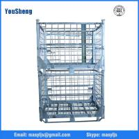 Storage cage/mesh box wire cage metal bin storage container for factory supplier