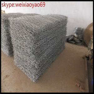 China Cage bon marché de pierre de boîte de Gabion de grillage en métal de mur de soutènement des prix/cage mesh/100*120mm Gabion galvanisé résistant de pierre on sale