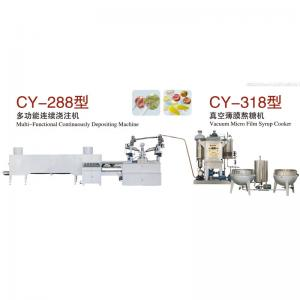 China Multi - Functional Candy Production Line , Full Automatic Jelly Candy Depositing Line on sale
