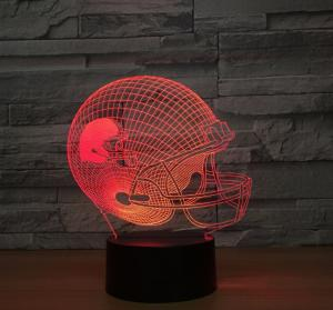 China Motorcycle Helmet 7 Colors Change 3D LED Night Light with Remote Control Ideal For Birthday Gifts And Party Decoration on sale