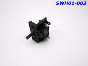 Quality Black Electric Stove Switch High Voltage Resistance 3 Position Rotary For