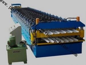 China Roof Tile Forming Machine Color Coated Double Layer Roll Forming Machinery , Metal Sheet Forming Tools on sale