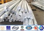 86KV Galvanized 11m Steel Power Pole , Steel Transmission Pole 3mm Thickness