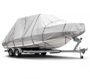 China Marine Guard 600D Waterproof Boat Cover Heavy Duty Excellent UV Protection on sale