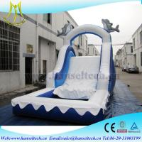 China Hansel China PVC material kids jumping castle bouner water slide outdoor play equipment on sale
