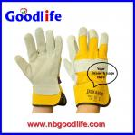Lether Plam glovws Cow Welding gloves