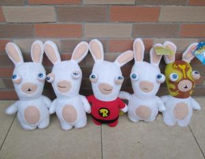China Lovely Rayman Raving Rabbids Cartoon Plush Toys White Cute Custom on sale
