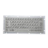 China 64 Keys Stainless Steel Backlit Usb Keyboard , Industrial Metal Keyboard With Trackball on sale