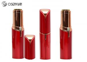 China Rechargeable Mini Painless Face Hair Remover Gold Plated Lipstick Shaped on sale