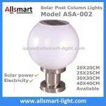 Electricidad al aire libre de la iluminación los 20cm25cm30cm40cm del poste de la columna de las luces de la cerca del pilar solar solar del top y luces híbridas solares
