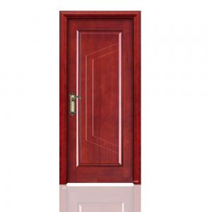 China Solid Core Laminated MDF Painted Red Wooden Interior Flush Doors For Projects on sale