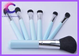 China Traveling mini Ligh blue 7 piece makeup brush set / brushes kit on sale