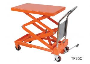 China Electric Stationary Hydraulic Lift Table Double Scissor Lifting Equipment on sale