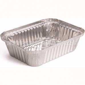 China Rectangle Baking Aluminium Foil Pie Dishes , Disposable Aluminum Baking Pans on sale