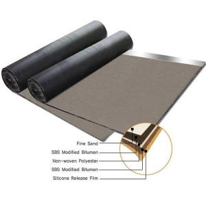 China Non woven compound glassfiber mat SBS modified bitumen waterproof membrane on sale