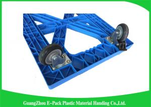 China Stackable Plastic Moving Dolly Platform Cart Transport Long Service Life on sale
