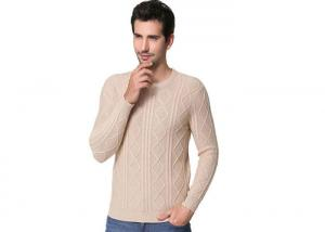 China Rhombus Pattern Pure Cashmere Sweaters Computer Knitted Technics For Adults on sale