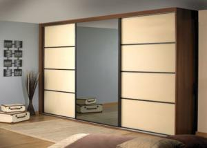 China PRIMA Home Bedroom Closets And Wardrobes Hinged Door With Mirror , 600mm Deep on sale