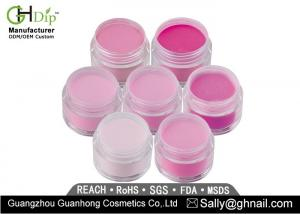 China Acrylic Organic Dipping Powder Pink Color For Fingernail , Long Lasting on sale