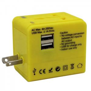 China Portable Electrical Ac Dc Universal Travel Adapter Laptop Phone Wall Power Charger on sale