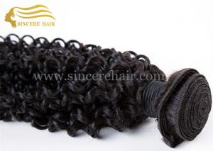 China 22 CURLY Hair Extensions for Sale, Hot Sale 22 Inch Natural Color Curly Remy Human Hair Weave Weft Extensions for Sale on sale